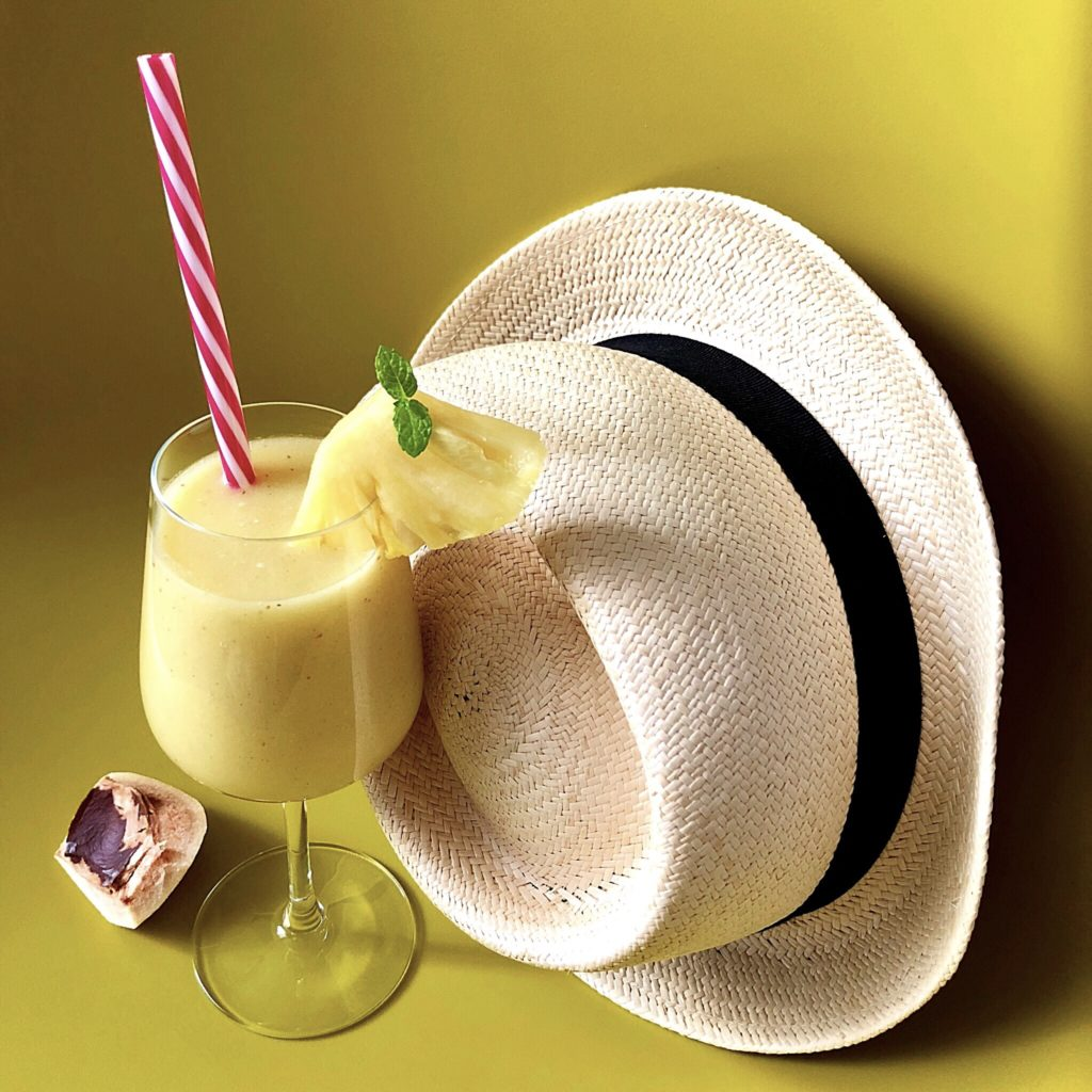 The pina colada in a healthy version, for a snack or an after work!