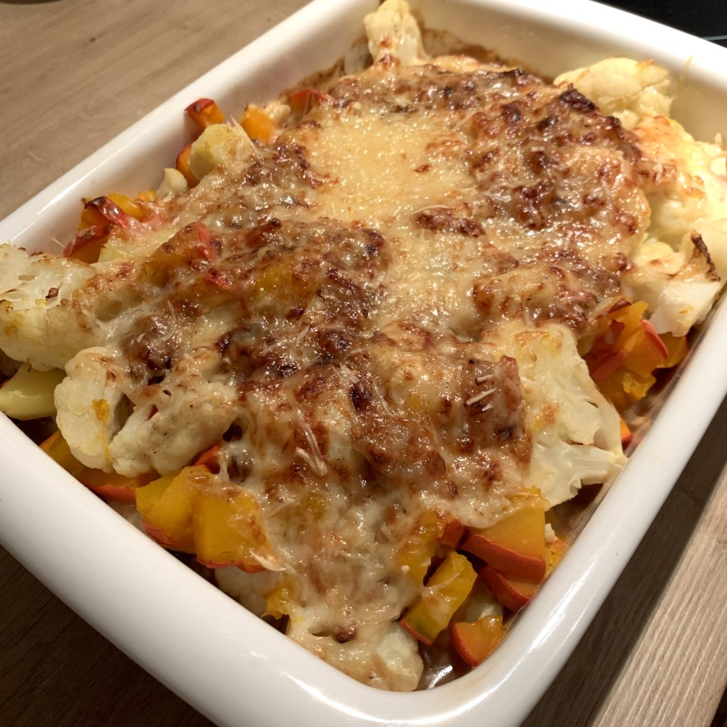 When the rain comes, the vegetables au gratin helps to revive your spirits!